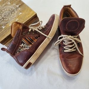 Inkkas brown leather lace up hiking boot